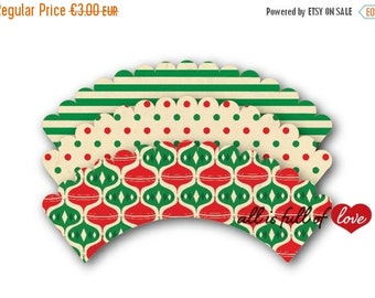 80% off Christmas Cupcake Wrappers Printable Decoration