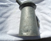 Galvanized steel oil can/handle/spout/ great patina/no rust or leaks