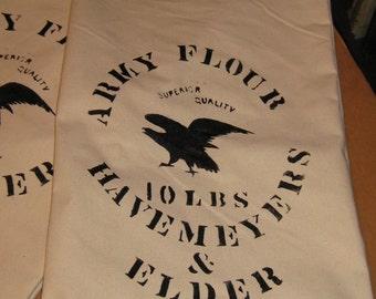 Civil War Period Canvas Flour Sacks
