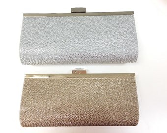 Set of 3 clutches in Silver, gift for bridesmaids, wedding party, wedding accessories, bridal accessories