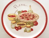 Vintage Stovit Pizza Platter, Stoviglierie Italy Pizza Plate, restaurant platter, Italian serving platter, pizza party plates, ceramic plate