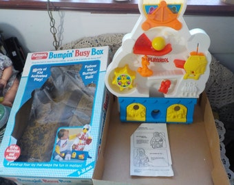 Playskool Bumpin Busy Box 1989  New Listing NOT INCLUDED  In Discount Coupon Sale