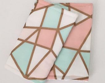 Suck pads for the Baby carrier Geometric | Metallic | Babywearing | suckpads | Pastel suckpads