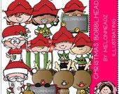 Christmas clipart - Bobbleheadz