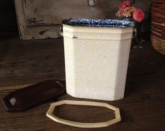 French Speckled Enamelware Lunch Box French Gamelle