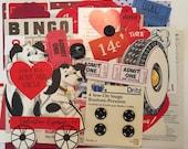 30 Pc Valentines Day Scrap Pack / Vintage Valentine Ephemera Scrap Pack for Altered Art, Mixed Media, Collage