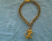 Vintage Kellogs Bracelet, Tony the Tiger Charm, Kelloggs Frosties, 7 1/2 Inches, Excellent Condition