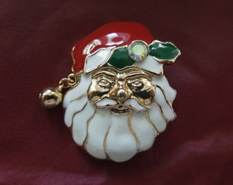 Vintage Christmas Brooch or Pin.  Santa.  Excellent Condition.