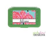 Personalized Pencil Box, Design Your Own, Art Supply Box, Crayon Box, Back to School, Lilly Pulitzer Inspired
