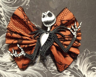 Nightmare Before Christmas / Jack Skellington Hair Bow