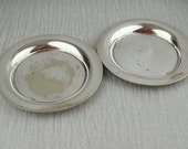 2 Round Silver Plated Trays Made in England D&S EPNS Dishes