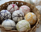 Organic XL Rainbow Striped Wool Dryer Ball (can scent for free) Extra Large - 30 Scents to Choose From! Frosted Cupcake Jasmine Lavender