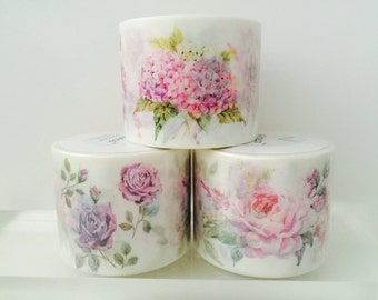 Peonies and Roses Washi Tape
