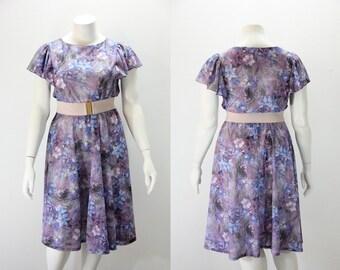 XXL Dress Vintage Floral Dress