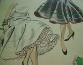 Vintage 1950's Vogue 8299 Skirt Petticoat Sewing Pattern, ONE SIZE