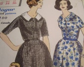 Vintage 1960's Vogue 5187 Dress Sewing Pattern, Size 14, Bust 34
