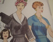 Vintage 1960's Vogue 5182 Wrapped Dress Sewing Pattern, Size 14, Bust 34