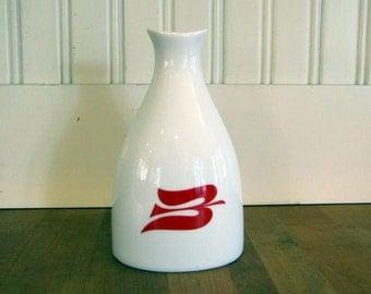 1960's Porgrund Souvenir Vase, Porgrund, Norway, 1960's, Norwegian, Porcelain, Vase, Viking Cruise Line, Peanut Shaker, Bird Vase