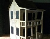 Primitive Bird Houses, Antique Bird Houses, Vintage Birdhouses, Purple Martin Bird House, Americana, Folk Art Birdhouse, Handmade Bird House