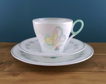 Rare Vintage Shelley Tea Cup, Saucer and Side Plate