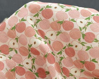 Peach Cotton Double Gauze Fabric - 59 Inches Wide - By the Yard 92514