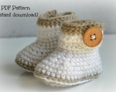 Crochet baby boots pattern, crochet baby shoes, Alby shoes, 0-6 months and 6-12 months