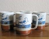 Vintage Seagull Mugs-Set of 4