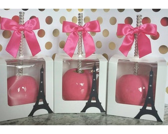 Eiffel Tower Paris French theme Candy Apples 8 per order.