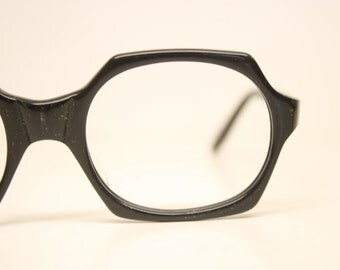 Vintage Eyeglasses Black New Old Stock 1970s Retro Eyeglass Frames