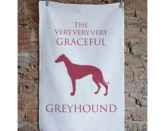 Greyhound Tea Towel - Greyhound Gift - Greyhound Present - Greyhound Birthday - Greyhound Design - Greyhound Love - Greyhound Dish Cloth