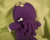 Purple and Lime Green Cthulhu Baby Plush Softie