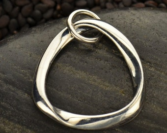 Sterling Silver Mobius Strip Link
