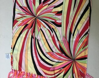Tasseled silk mod explosion scarf