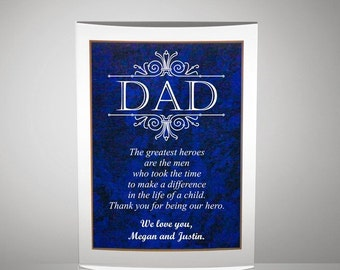 Customized Inscribed Plaque for Dad