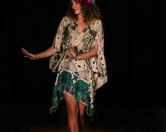 Life of a Butterfly Crossover Wrap Dress by LaMolli Kaftans