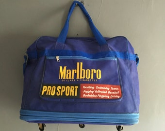 Rare Large Vintage Marlboro Pro Sport Bag with Wheels