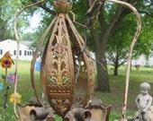 RESERVED for Kayvon - Vintage 5 Bulb Hanging Light Fixture