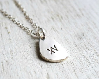 Customizable pendant pebble necklace - Sterling silver