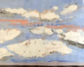 Pacific Big Sky Mulberry Summer #2 Lg - Original Acrylic Painting