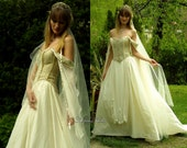 Medieval Renaissance Style Alternative Corset Wedding Gown - Genevieve