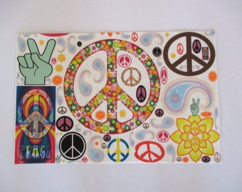 """Love Iron On Peace Sign X Large  10"""""""