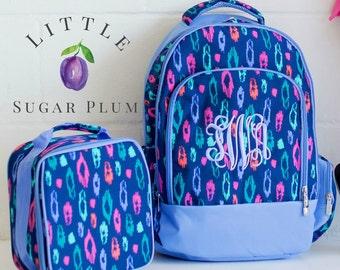 Monogrammed Backpack, Leopard Backpack, Girl's Backpack, Back to School, Backpack & Lunchbox Monogrammed