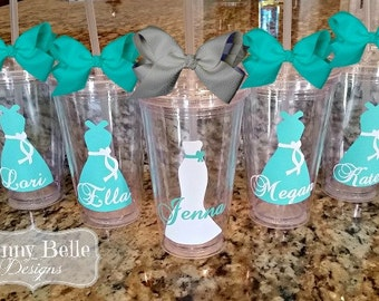 Wedding Cups; Wedding Tumblers, Personalized Tumblers, Bride's Tumbler, Bridesmaid Cups; Bridesmaid Tumblers, Bachelorette Cups, Party Favor