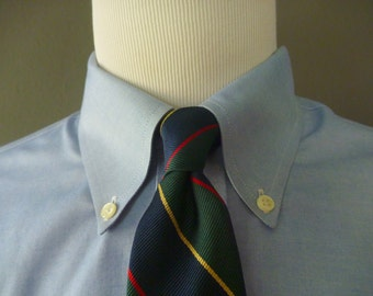CLASSIC Vintage Robert Kirk, Ltd. for Cable Car Clothiers of San Francisco All Silk Regimental Repp Striped Trad / Ivy League Neck Tie.