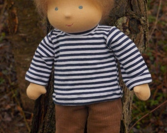 "14"" Waldorf doll  boy,light brown hair , blue eyes ( made to order )"
