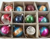 Vintage Shiny Brite Tree ornaments, Christmas, glass, set of 12