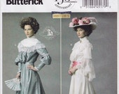 "FF Sz 16-24, Victorian Costume Woman's Dress Sewing Pattern - Butterick 5970 - Sizes 16, 18, 20, 22, 24, Bust 38""-46"" UNCUT"