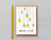 You're a Star Card. Thank you card or Love card