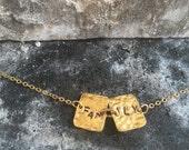 18k gold plated pendant chain bracelet