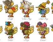 Chocobo Classes Cross Stitch Pattern